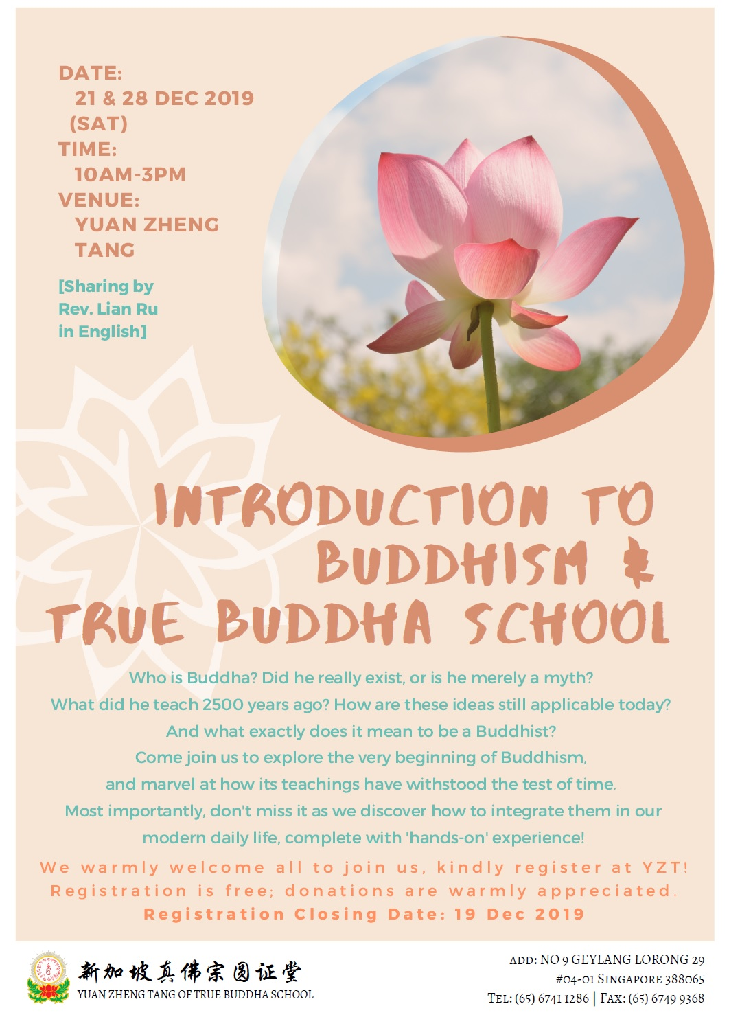 Dec 21 Intro to Buddhism & TBS